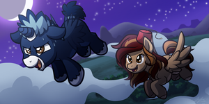 Lightning Star and Blue Dust (Flying Lessons) by BuizelCream