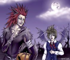 Walking in Halloween town by BeBelial