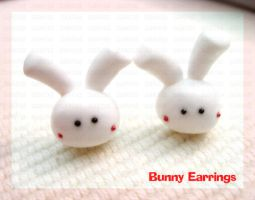 Bunny Earrings by ChocoAng3l