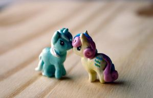 Tiny Lyra and Bon Bon from My Little Pony by Timatae