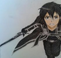 Kirito Kazuto: art trade for vaneko13 by Strawberrykitkat27
