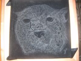 Cheetha pyrography by Pagels