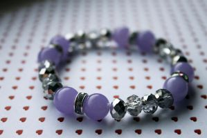 Purple and Silver Sparkle Bracelet by Clerdy