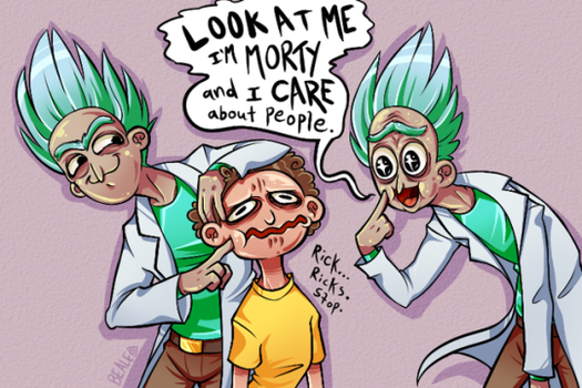 Emoji Challenge: Ricks and a Morty by TheBealeCiphers