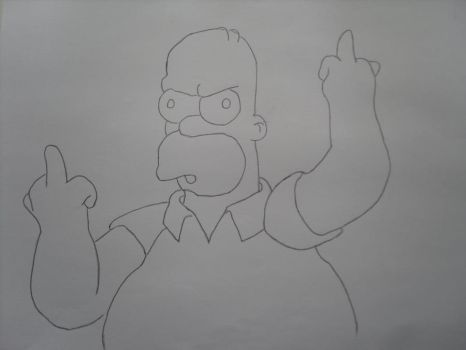 Pissed Homer by nikki-nitro
