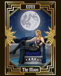 DMC Tarot - 18 - The Moon by ElvenAngel