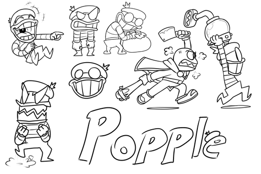 Popple Doodles by DancingGerbil
