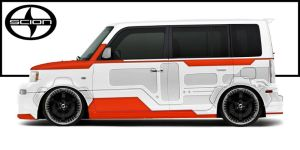 Skin a Scion xB Mech by thesuper