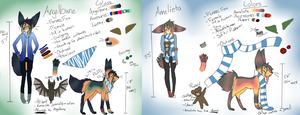 Angelbane and Amelieta Reference by CYB3R-PUNK