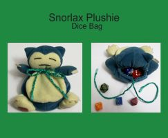 Snorlax Plushie Dice Bag by SewingKitt