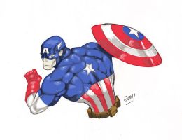 Captain America color by pollomaxx
