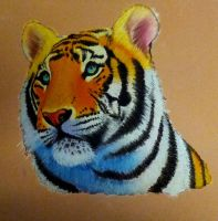 Tiger Pastels by Bobby-castaldi-art