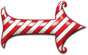 Candy Cane Arrow by clipartcotttage