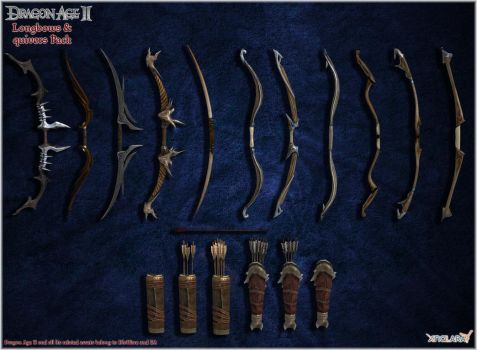 Dragon Age II: Longbows and Quivers pack by Berserker79