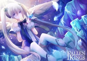 Angel girl in ice mountain by FiliaNanna