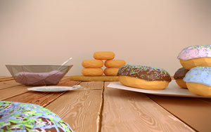 Donuts - LowPoly by k7g4p11