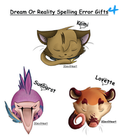 D.O.R. Spelling Error Gifts 4 by SDevilHeart
