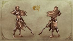 Concept Art: Elf. by klaatu81