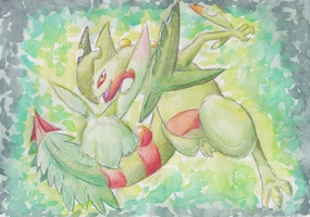 Mega Sceptile by PitchBlackEspresso