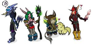 Warcraft Chibis Set5 by feedapollyon