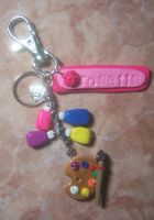 personalize artist's keychain by jong28
