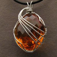 Wire Wrapped Golden Citrine Pendant by JandSGems
