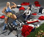 O girl Car Dismantle by Stone3D