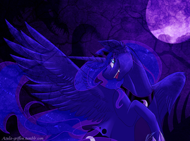 Evil scary luna yes by AzulaGriffon