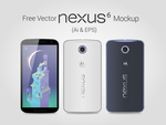Free Vector Google Nexus 6 Mockup Ai EPS by Designbolts