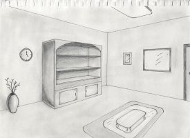 Two point perspective interior by timluv