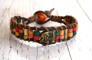Elephant Hemp Bracelet by clroavieg