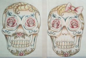 Both Skulls Together by TheMajesticCarnival