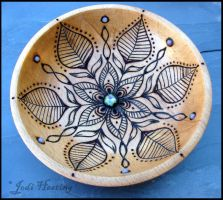 Waiola - Wooden Offering Meditation Bowl by andromeda