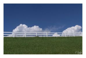 Two Fences Keep Out the Clouds by sridge