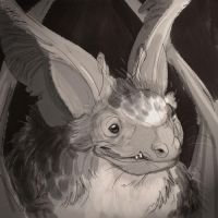 Bat Head by goosezilla