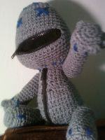 Sackboy the Gray - Amigurumi by Lady-Nocturna