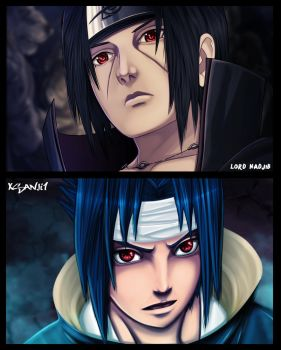 collab sasuke and itachi by Yahik0