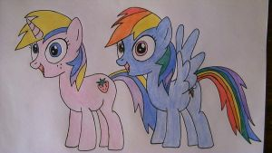 Mlp:Holly Dash and Rainbow Dash by SweetieBot3000