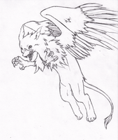 Pretty pencil gryphon by Dogmaniac