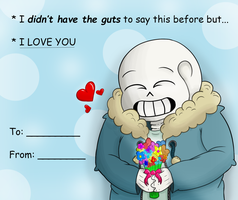 Undertale Sans Valentines Day thing by thirdwheeI