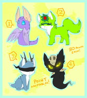 Point Adoptables Set 2 - !! 1 remaining !! by Maipee-Chan