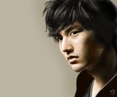 iPad finger painting of Korean actor Lee Min Ho by chaseroflight