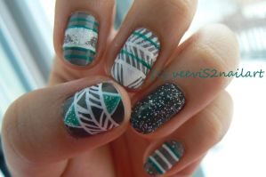 Native nail art fever by VeeviS2