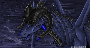 Dragon of Darkness (iScribble) by GlowyDaBstrd