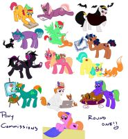 Pony Commissions Round One by lozartist
