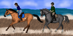 Will , Luna , Aztec and Blue's First Choice by BlueLakeRanch