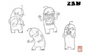 Zan Action Poses by Blu-Bear