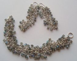 Chainmaille and Labradorite by MarieCristine