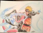 Greninja and Naruto - Double Shuriken by atta9