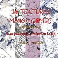 -1O Manga Comic Textures. by aworldofmagic